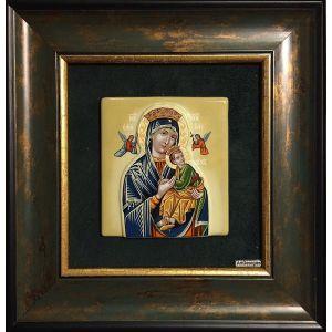 Icoană Mozaic și Vitraliu Maica Domnului