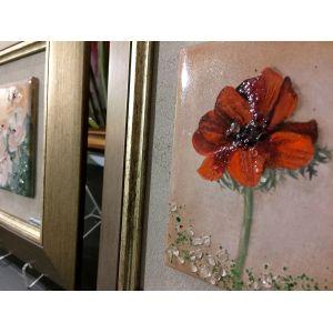 Tablou vitraliu fluture