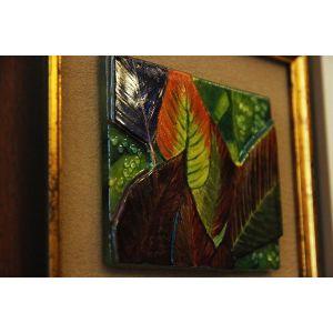 Tablou mozaic și vitraliu femeie