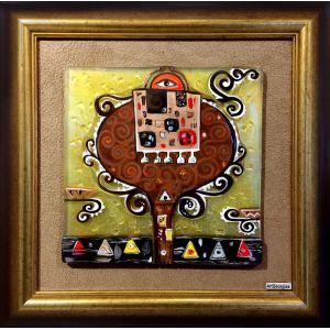 tablou mozaic și vitraliu Mama și copilul