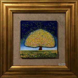 Tablou mozaic și vitraliu Maica Domnului