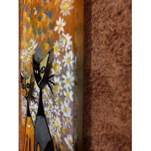 Tablou mozaic și vitraliu Maica Domnului și Pruncul