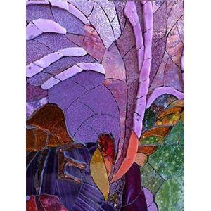 Tablou vitraliu Maica Domnului cu Pruncul