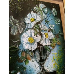 Tablou fuziune flori