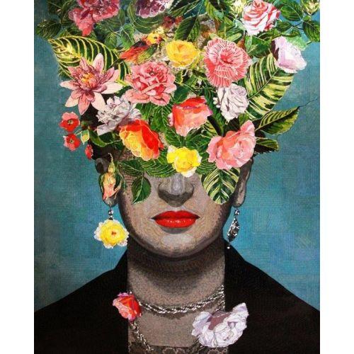 Portret cu flori - Interpretare Frida Kahlo
