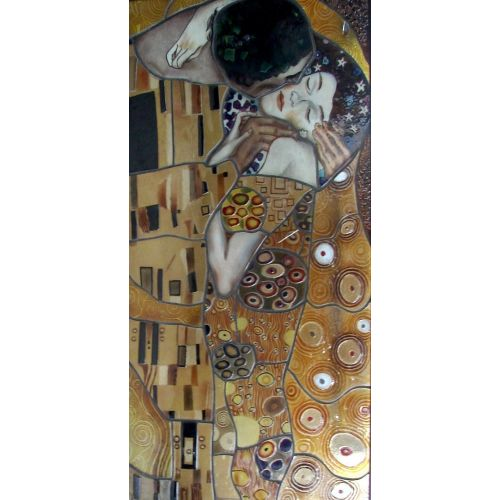 Vitraliu - Sarutul - Interpretare Gustav Klimt