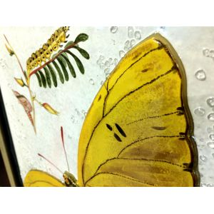 Tablou mozaic și vitraliu lalele