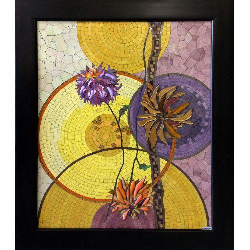 Compoziție cu crizanteme